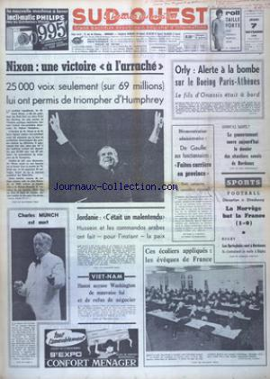 SUD OUEST no:7527 07/11/1968