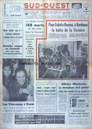 SUD OUEST no:7525 05/11/1968