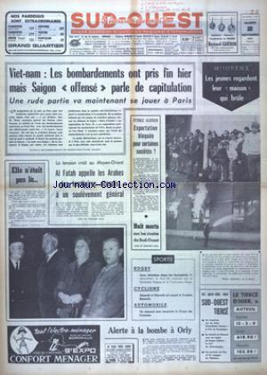 SUD OUEST no:7523 02/11/1968