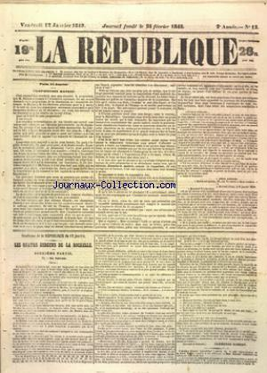 REPUBLIQUE (LA) no:12 12/01/1849