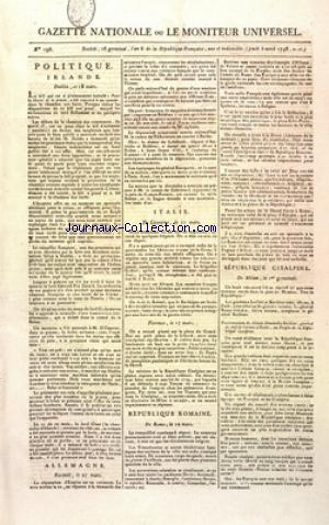 GAZETTE NATIONALE OU LE MONITEUR UNIVERSEL no:196 05/04/1798