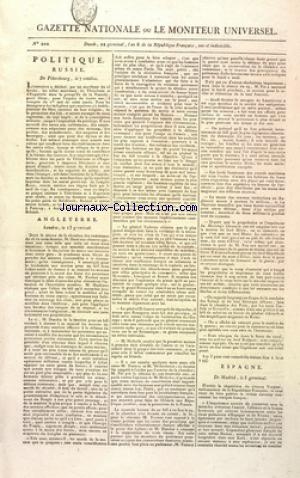 GAZETTE NATIONALE OU LE MONITEUR UNIVERSEL no:202 11/04/1798