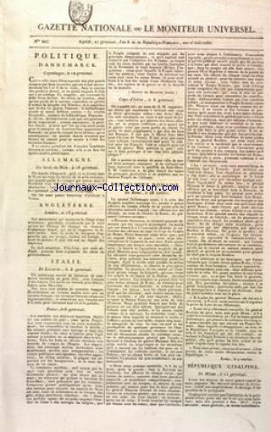 GAZETTE NATIONALE OU LE MONITEUR UNIVERSEL no:207 16/04/1798