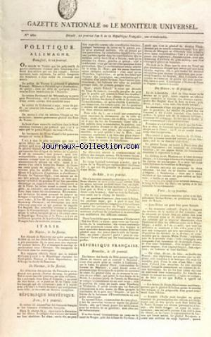 GAZETTE NATIONALE OU LE MONITEUR UNIVERSEL no:260 07/06/1798