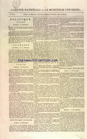 GAZETTE NATIONALE OU LE MONITEUR UNIVERSEL no:330 15/08/1798