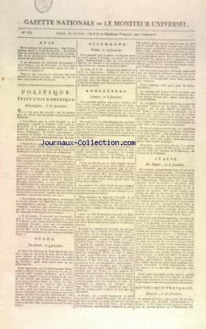 GAZETTE NATIONALE OU LE MONITEUR UNIVERSEL no:357 11/09/1798