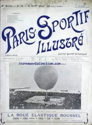 PARIS SPORTIF ILLUSTRE no:15 10/04/1904