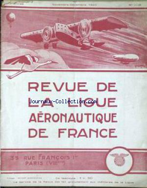 REVUE DE LA LIGUE AERONOTIQUE DE FRANCE no:11 01/11/1923