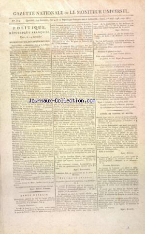 GAZETTE NATIONALE OU LE MONITEUR UNIVERSEL no:314 01/08/1796