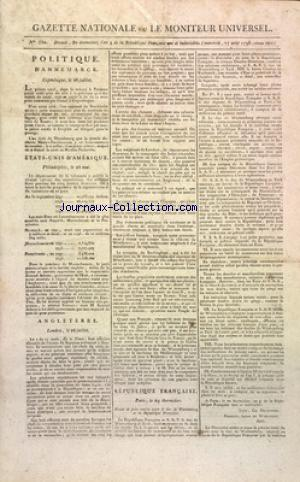 GAZETTE NATIONALE OU LE MONITEUR UNIVERSEL no:330 17/08/1796
