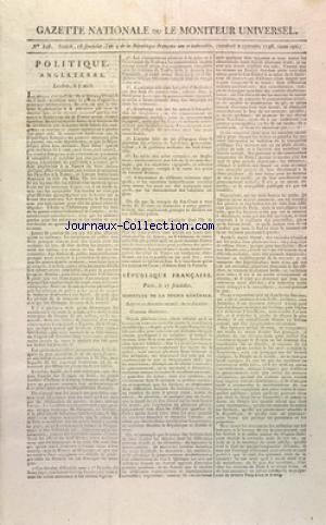 GAZETTE NATIONALE OU LE MONITEUR UNIVERSEL no:346 02/09/1796