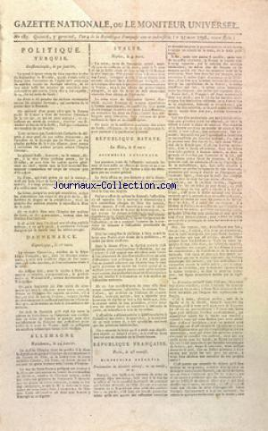 GAZETTE NATIONALE OU LE MONITEUR UNIVERSEL no:185 25/03/1796