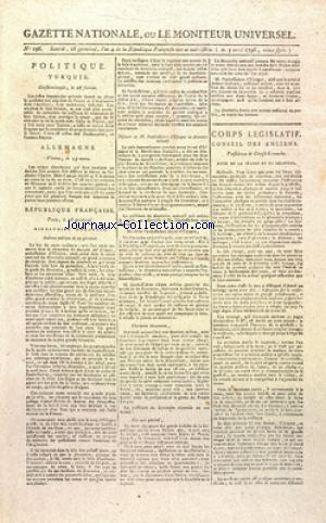 GAZETTE NATIONALE OU LE MONITEUR UNIVERSEL no:196 05/04/1796