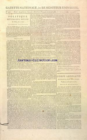 GAZETTE NATIONALE OU LE MONITEUR UNIVERSEL no:202 11/04/1796