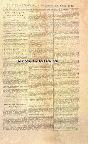 GAZETTE NATIONALE OU LE MONITEUR UNIVERSEL no:184 24/03/1794