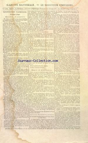 GAZETTE NATIONALE OU LE MONITEUR UNIVERSEL no:207 16/04/1794