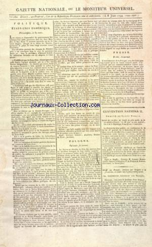 GAZETTE NATIONALE OU LE MONITEUR UNIVERSEL no:260 08/06/1794