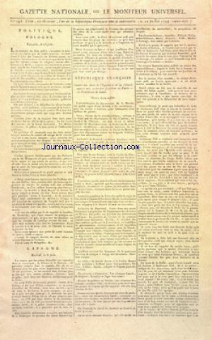 GAZETTE NATIONALE OU LE MONITEUR UNIVERSEL no:293 11/07/1794