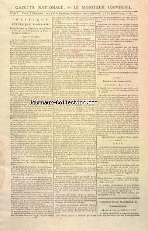 GAZETTE NATIONALE OU LE MONITEUR UNIVERSEL no:303 21/07/1794
