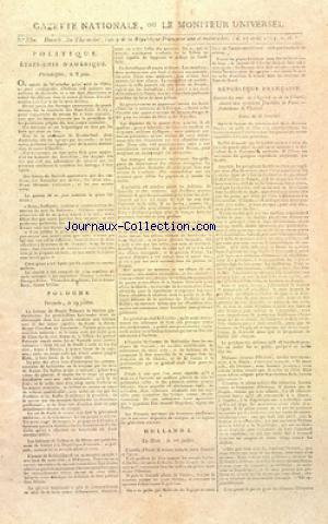 GAZETTE NATIONALE OU LE MONITEUR UNIVERSEL no:330 17/08/1794
