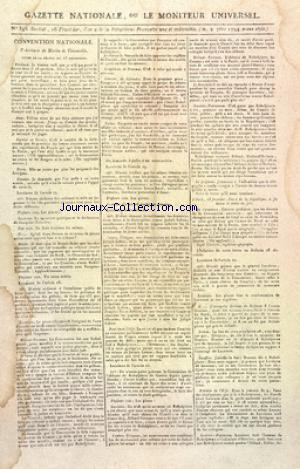 GAZETTE NATIONALE OU LE MONITEUR UNIVERSEL no:346 02/09/1794
