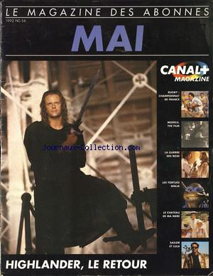 CANAL PLUS no:56 01/05/1992