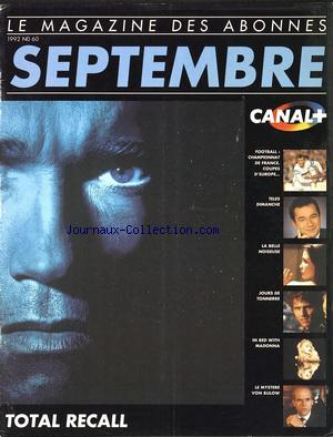 CANAL PLUS no:60 01/09/1992