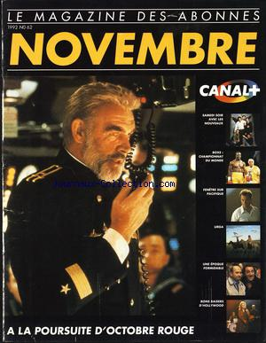 CANAL PLUS no:62 01/11/1992
