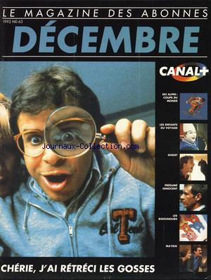 CANAL PLUS no:63 01/12/1992