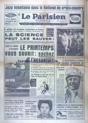 PARISIEN LIBERE GRAND FORMAT (LE) no:6694 07/03/1966
