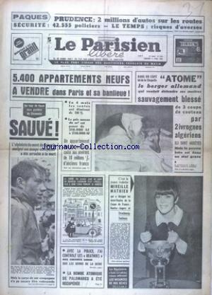 PARISIEN LIBERE GRAND FORMAT (LE) no:6722 08/04/1966