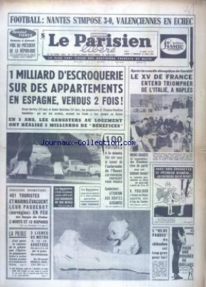 PARISIEN LIBERE GRAND FORMAT (LE) no:6723 09/04/1966