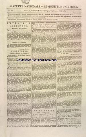 GAZETTE NATIONALE OU LE MONITEUR UNIVERSEL no:346