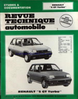 REVUE TECHNIQUE AUTOMOBILE no: