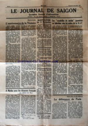 JOURNAL DE SAIGON (LE) no:34 09/11/1945