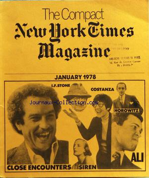 COMPACT NEW YORK TIMES MAGAZINE (THE) no: 01/01/1978