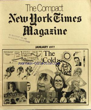 COMPACT NEW YORK TIMES MAGAZINE (THE) no: 01/01/1977