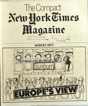 COMPACT NEW YORK TIMES MAGAZINE (THE) no: 01/08/1977