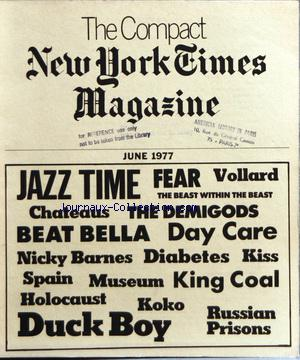 COMPACT NEW YORK TIMES MAGAZINE (THE) no: 01/06/1977
