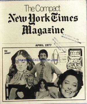 COMPACT NEW YORK TIMES MAGAZINE (THE) no: 01/04/1977