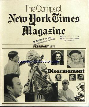 COMPACT NEW YORK TIMES MAGAZINE (THE) no: 01/02/1977