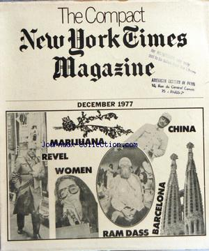 COMPACT NEW YORK TIMES MAGAZINE (THE) no: 01/12/1977