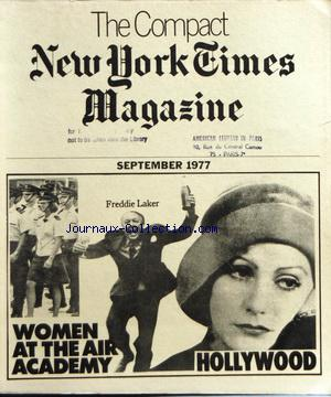 COMPACT NEW YORK TIMES MAGAZINE (THE) no: 01/09/1977