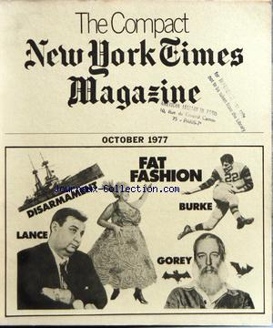 COMPACT NEW YORK TIMES MAGAZINE (THE) no: 01/10/1977