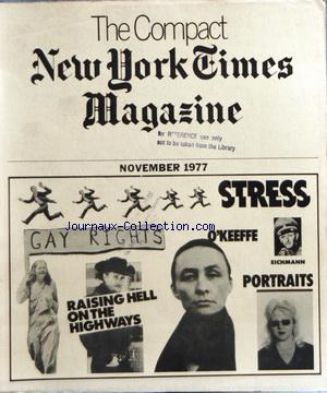 COMPACT NEW YORK TIMES MAGAZINE (THE) no: 01/11/1977