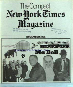 COMPACT NEW YORK TIMES MAGAZINE (THE) no: 01/11/1976