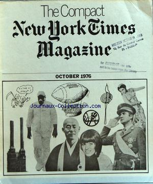 COMPACT NEW YORK TIMES MAGAZINE (THE) no: 01/10/1976