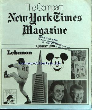 COMPACT NEW YORK TIMES MAGAZINE (THE) no: 01/08/1976