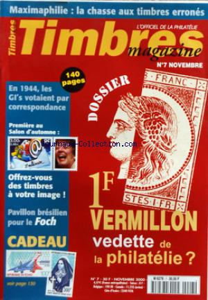 TIMBRES MAGAZINE no:7 01/11/2000