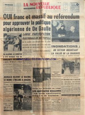 NOUVELLE REPUBLIQUE (LA) no:4963 09/01/1961
